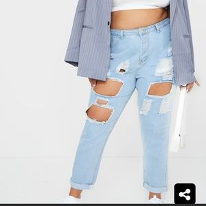 Distressed pretty little things jeans